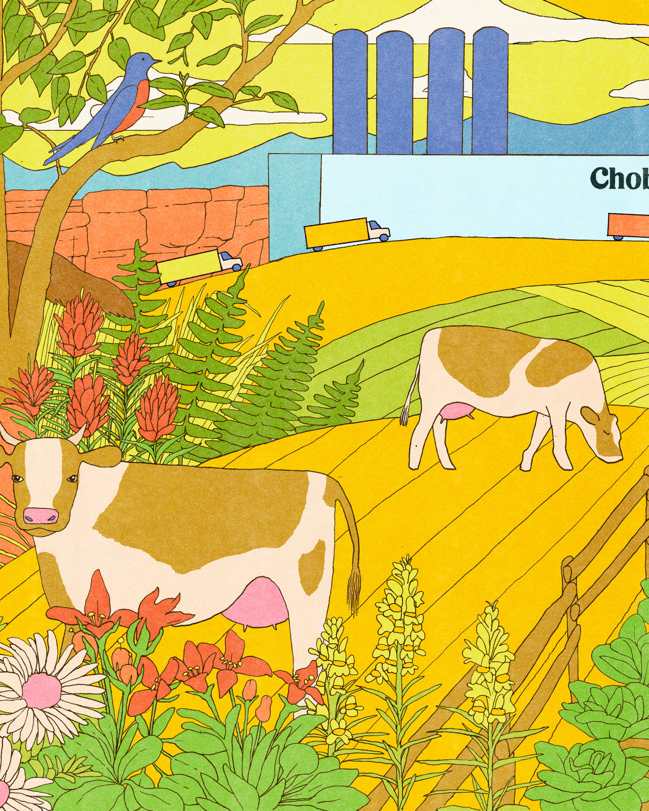 chobani factory illustration